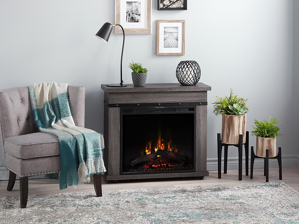 Morgan Infrared Electric Fireplace Heater In Charcoal Oak