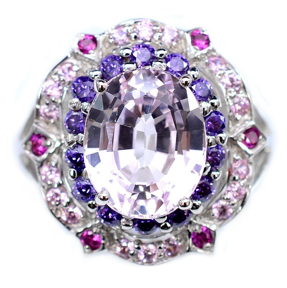 pink halos natural vintage sapphires cut with sapphire of and lavender stunning pin purple oval a kunzite