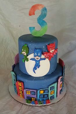 Deluxe PJ Masks Cake Kit Pj mask Pj and Masking