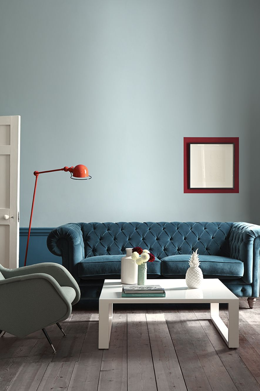 Little Greene The Duck Egg And Teal Are So Harmonious With That Shot Of Orange For E