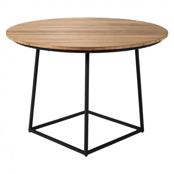 Raven 6 Seater Teak And Metal Garden Table Buy Now At Habitat Uk Metal Garden Table Garden Table Teak