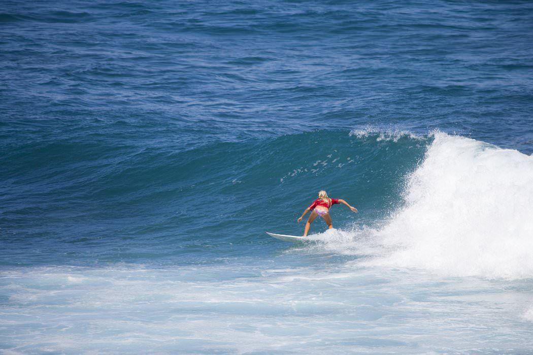 Surfer at Ho'okipa Beach, Pai'ia, North Shore.