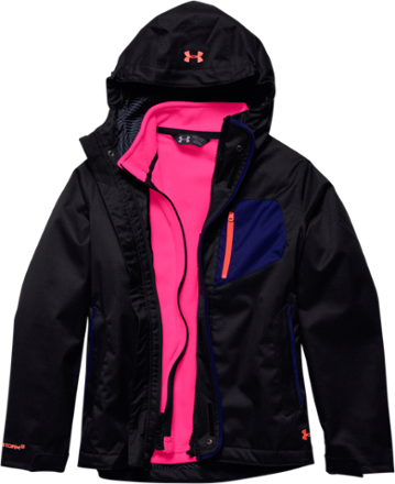 98169982f1ad Under Armour Girl s ColdGear Infrared Gemma 3-in-1 Jacket Black XL ...