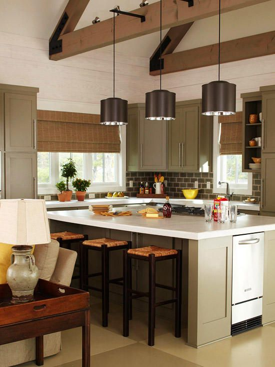 Kitchens With Pendant Lighting Pinterest Tall Ceilings Beam - Kitchens with pendant lights