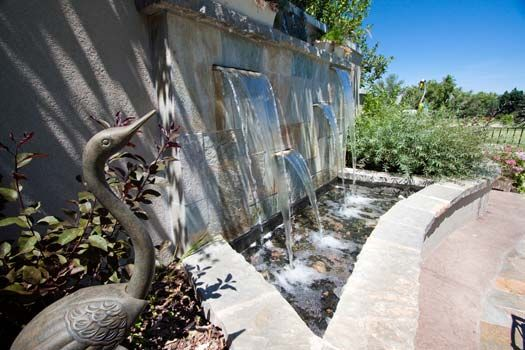 This is a beautiful outdoor water feature in east sandy utah check out those gorgeous tiles we Indoor swimming pools in sandy utah