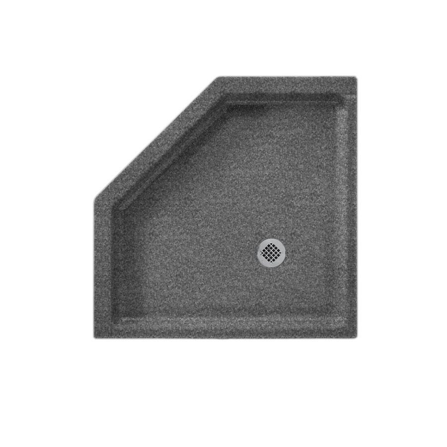 Swan Night Sky Solid Surface Shower Base 36 In W X 36 In L With