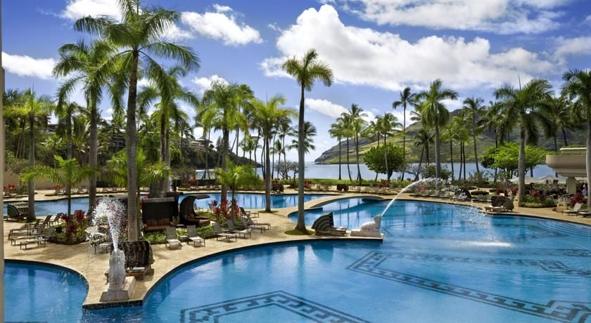Kauai Marriott Resort Lihue This 5 Star Hotel Is Next To Kala Bay And The 18 Hole Lagoons Golf Club Offers A Ious Outdoor