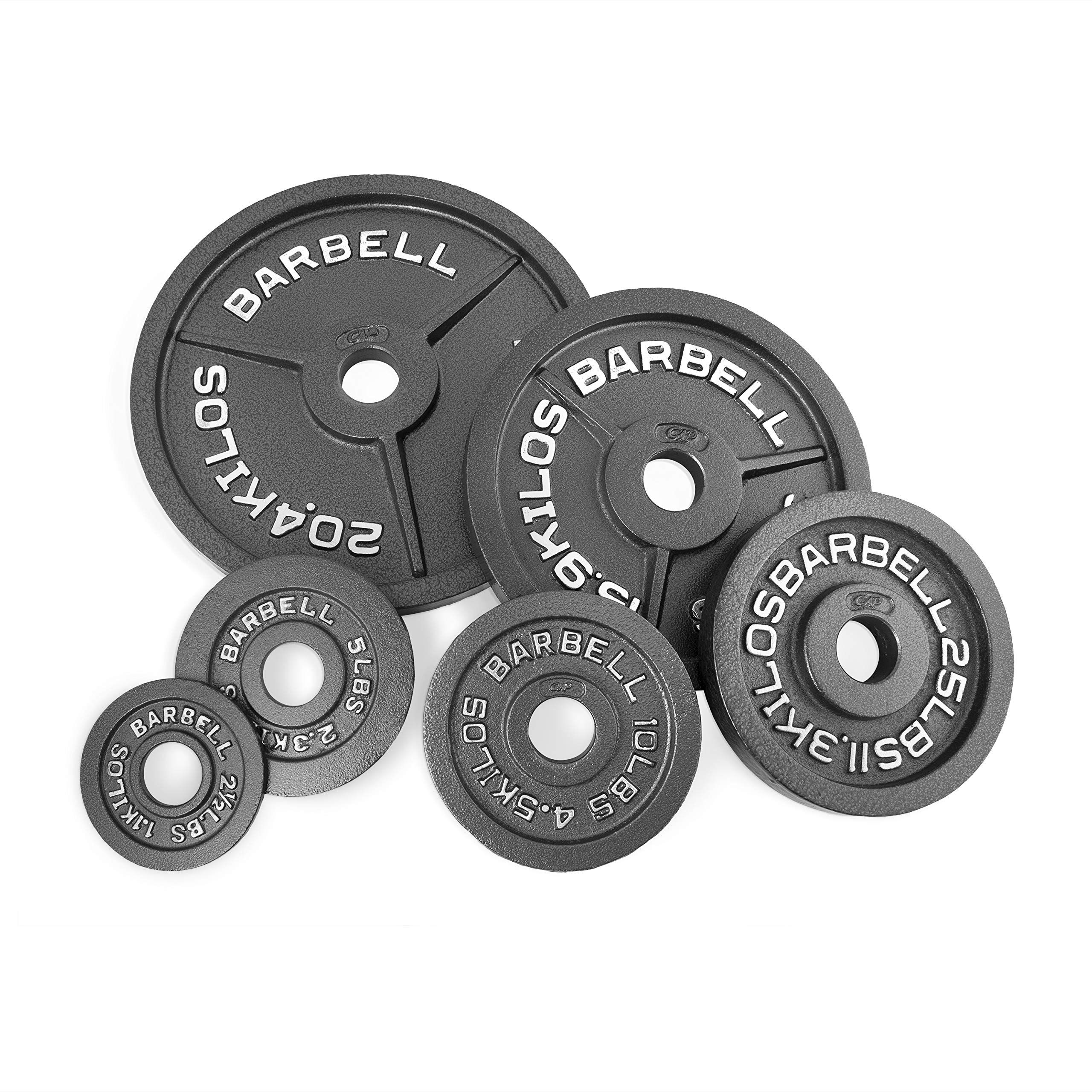 Cap barbell 35 lb black olympic weight plate look into
