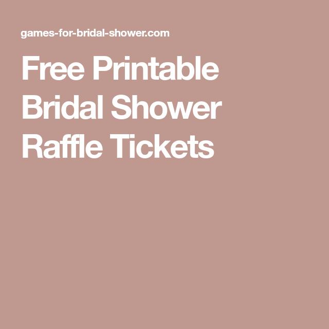 free printable bridal shower raffle tickets wedding shower in 2018