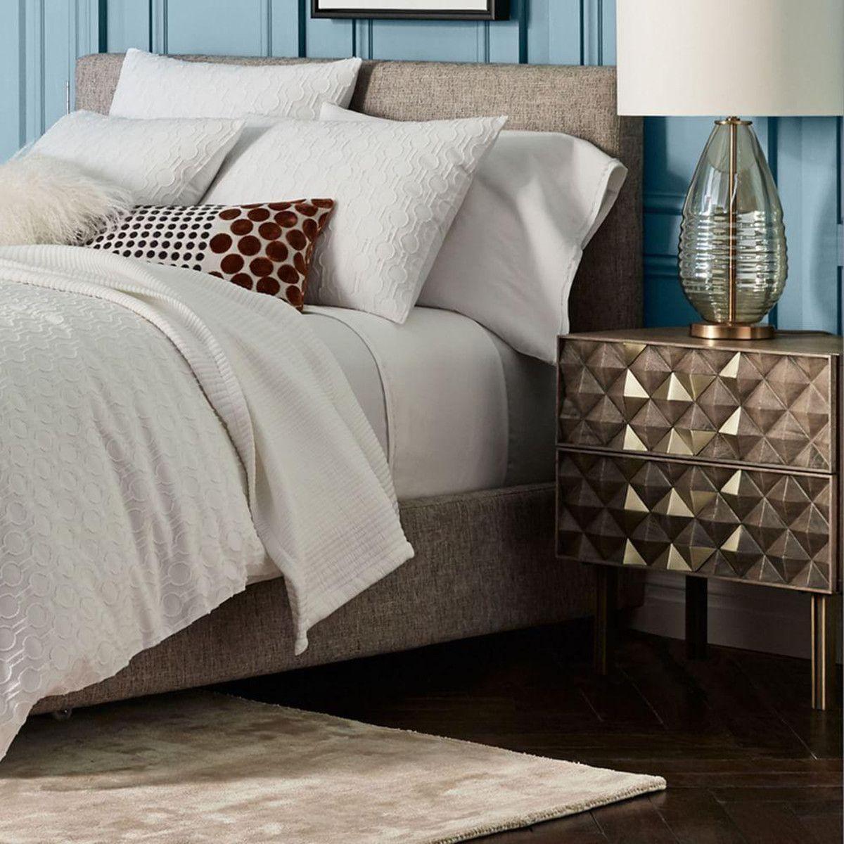 Roar Rabbit Diamond Rhombus Bedside Table Home