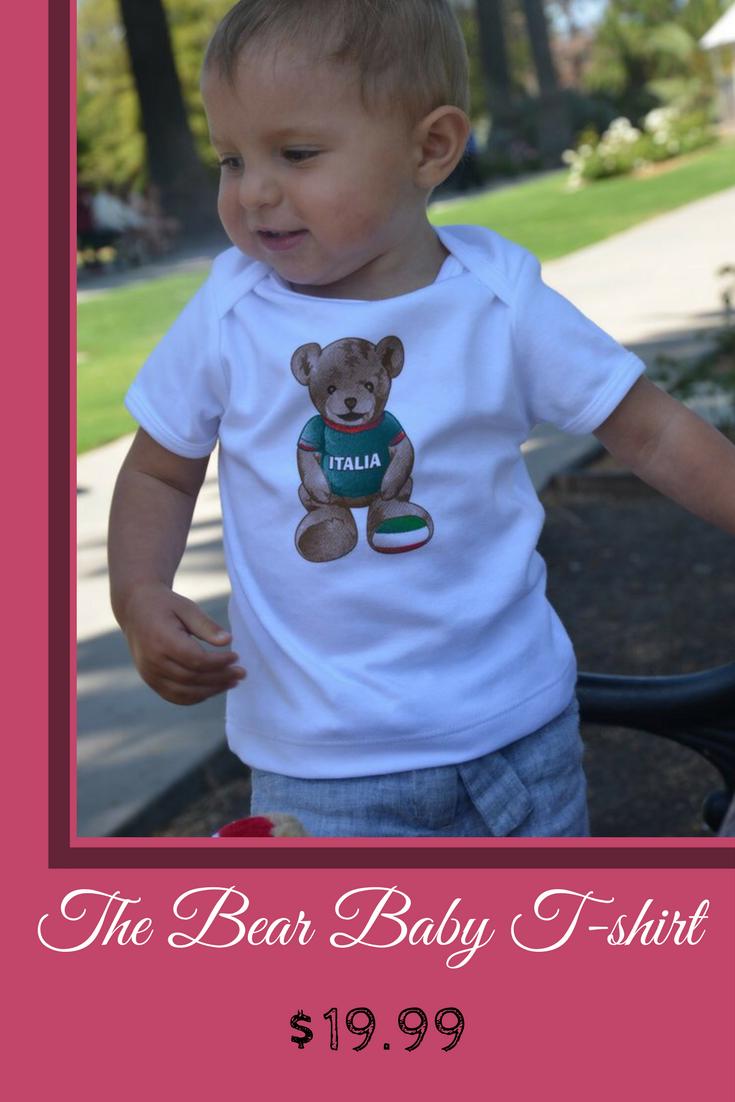 Italia Giovanni The Bear Baby T Shirt Italian Souvenirs