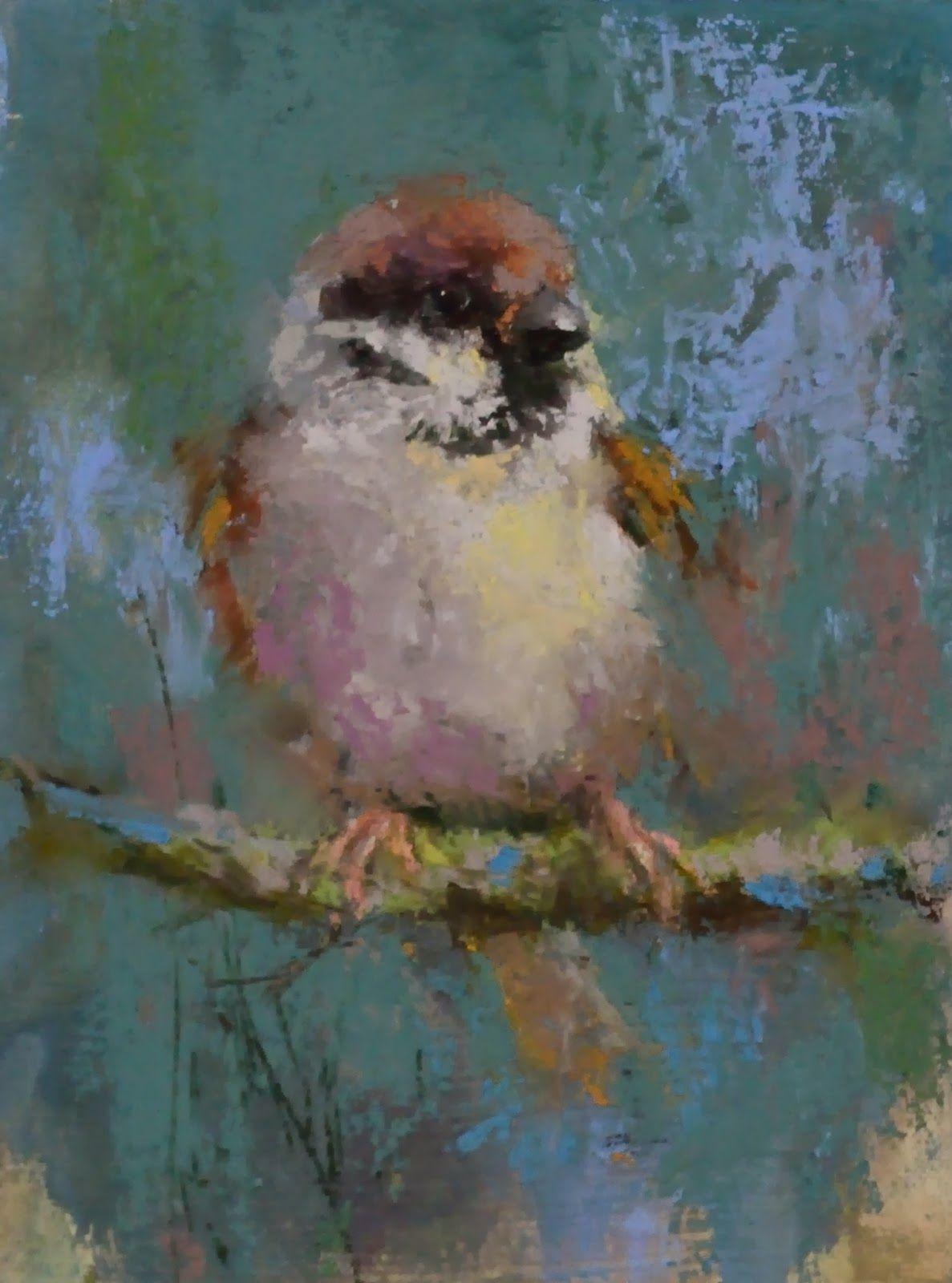потрясающая глубина птицы пастелью современных художников внимание стекло, оно
