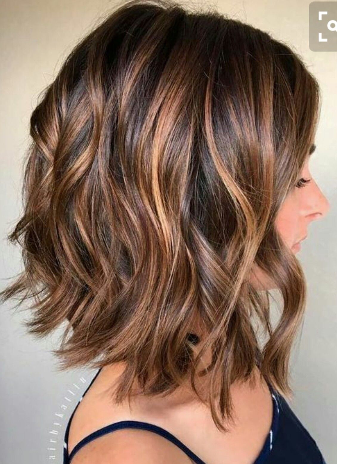 Dark Brown Short Hair With Caramel   Hair styles, Hair lengths