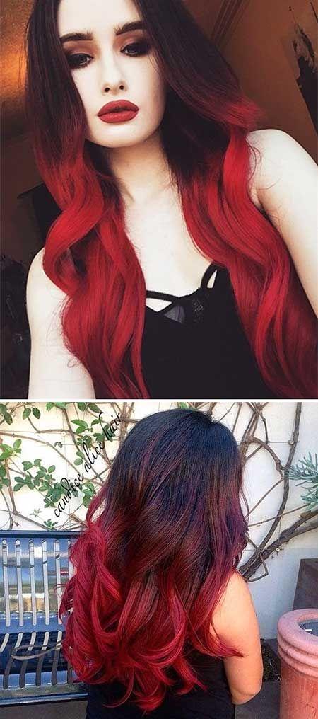 Erstaunliche Schwarze Und Rote Farbige Frisuren Pinterest Hair