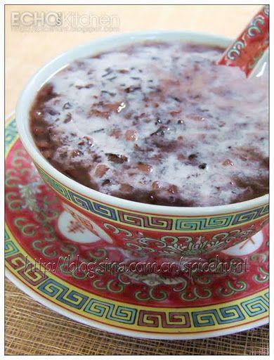 Echo's Kitchen: Bubur Pulut Hitam (Black Glutinous Rice Dessert)