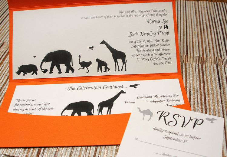 Animal-themed wedding invitation idea Wild Weddings at the Zoo - best of invitation card for new zoo