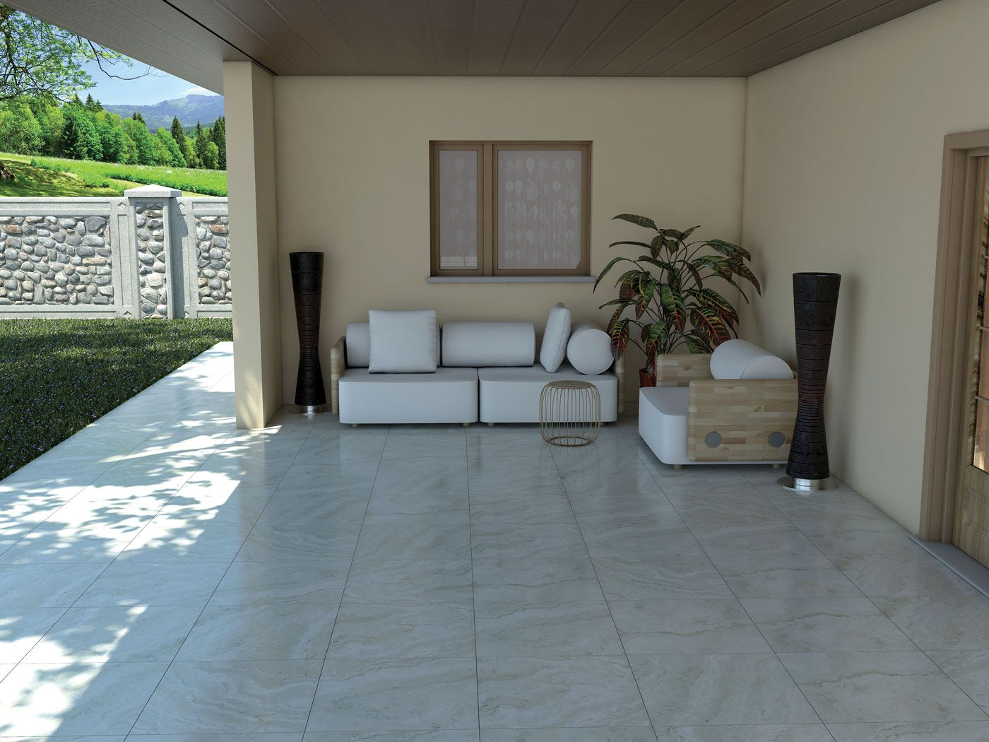 Ganymede White 12 X24 Porcelain Tile Also Available In Beige And Mosaics