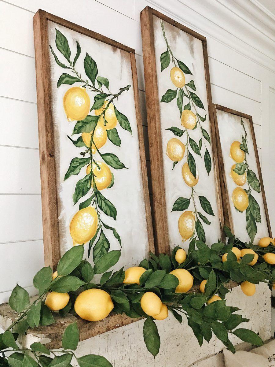 Summer Lemon Mantel – Four Ways -  Summer Lemon Mantel – Four Ways  -