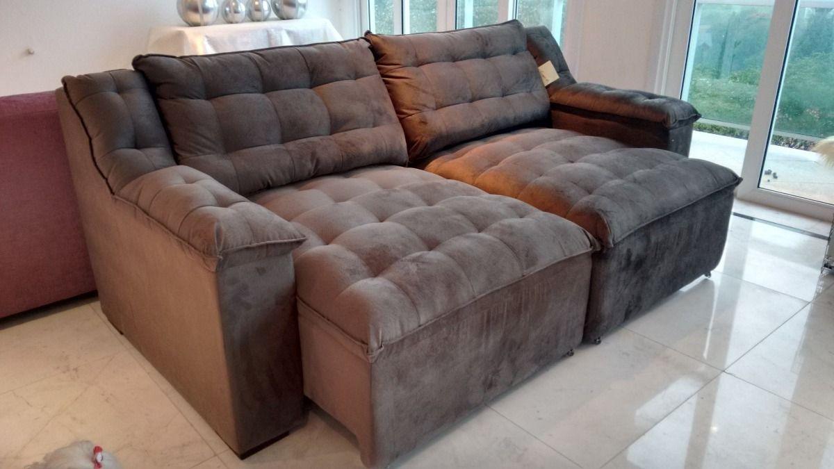 Sala Pequena Sofa Retratil ~ sofa retratil lindo  novo  Ideias para a casa  Pinterest  Sofás