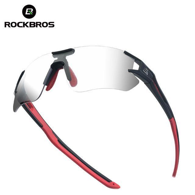 RockBros Cycling Glasses Bike Photochromatic Bicycle Sunglasses UV400 Goggles
