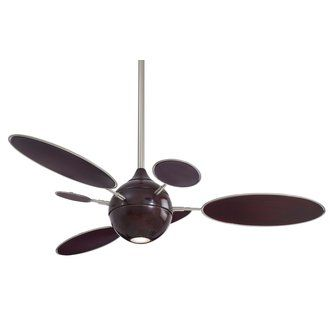 Minkaaire Cirque Ceiling Fan Ceiling Fan With Light Brushed Nickel