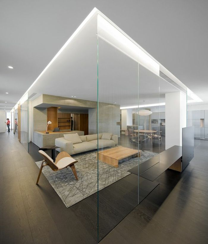 la cloison en verre est un moyen l gant d 39 organiser l 39 int rieur cloison en. Black Bedroom Furniture Sets. Home Design Ideas