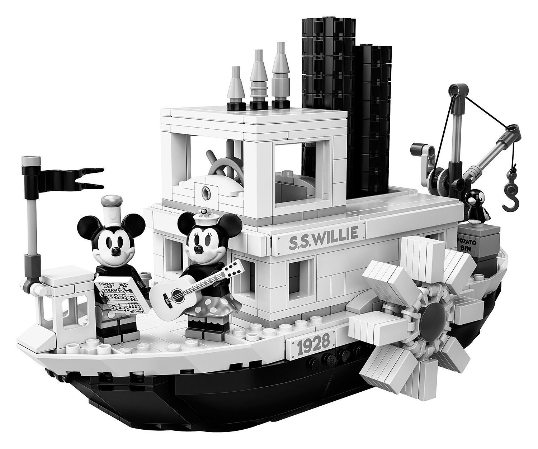 Lego Disney Celebrate 90 Years Of Mickey Mouse Steamboat Willie Mickey Mouse Steamboat Willie Lego Disney