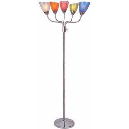 Uni II 5-Light Floor Lamp, Multicolor