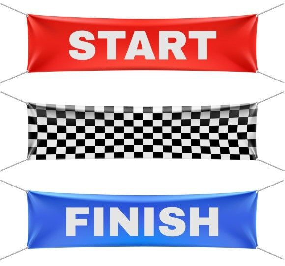 Start Finish Checkered Banners Poster Templates 5 00 Vinyl Banners It Is Finished Custom Banners