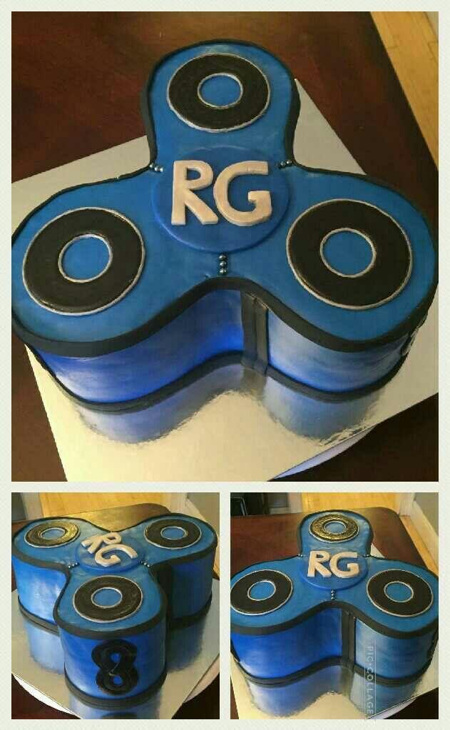 Fidget Spinner Birthday Cake | My Theme Birthday Cakes | Fidget ...