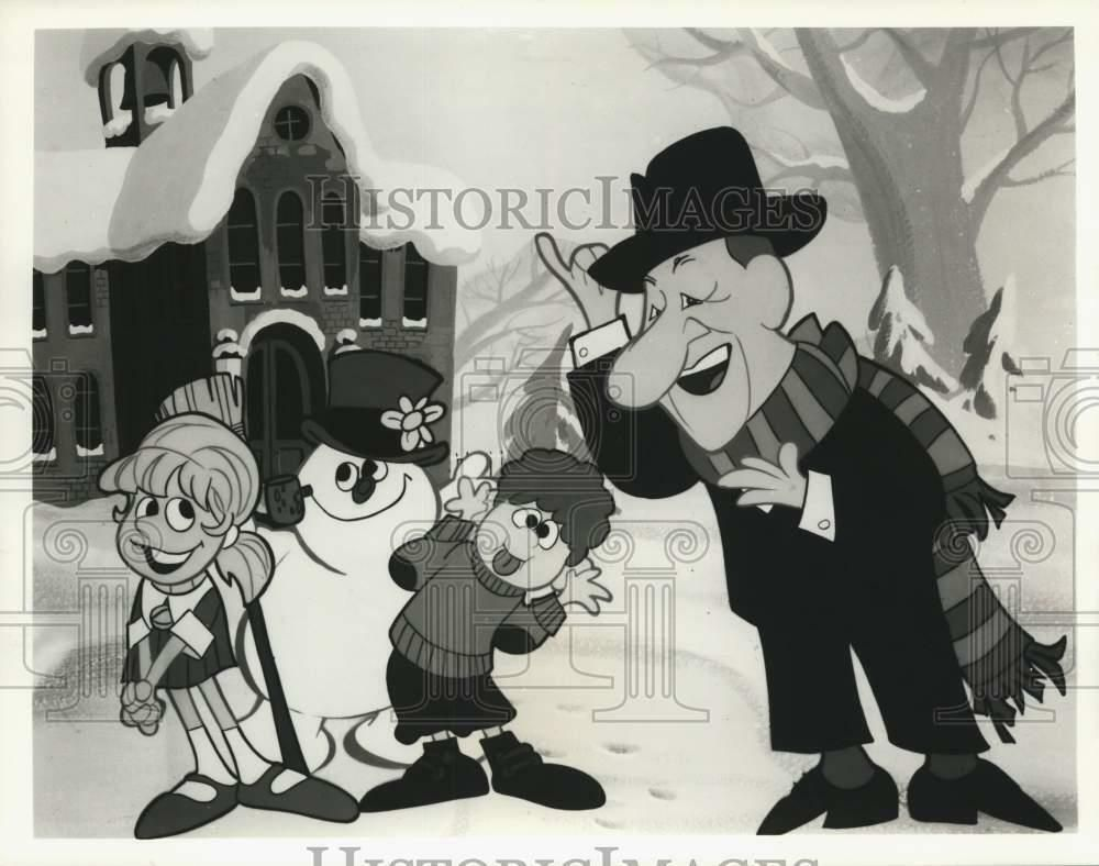 Ebay Sponsored 1987 Press Photo Frosty Jimmy Durante And Friends In Frosty The Snowman Frosty The Snowmen The Snowman Animation Frosty