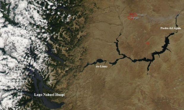 Incendios en Neuquén: así se los ve desde el espacio