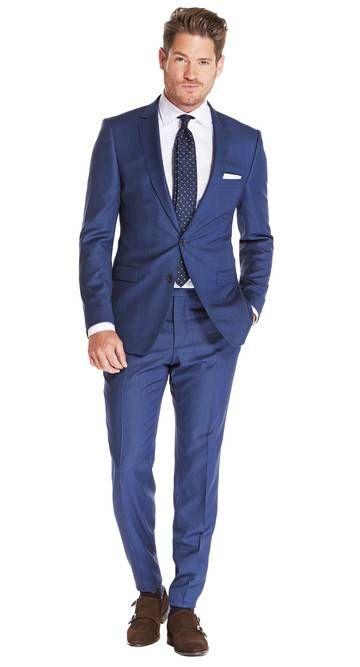 70056584cf6 Pak Blauw uni Ellis - Van Gils herenmode   Suited in 2019 - Suits ...