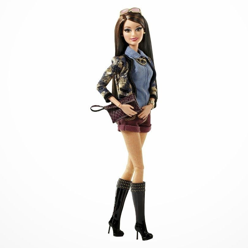 BARBIE BASICS LOOK # 1 COLLECTION 1 BOOTS AND BAG NEW
