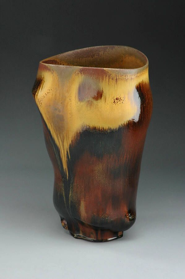 Artist Chris Gustin Large Wood Fired Vessel