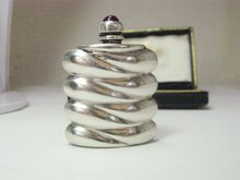 Vintage Ormex Sterling Perfume with Jewel Tone Cabochon Topped Stopper