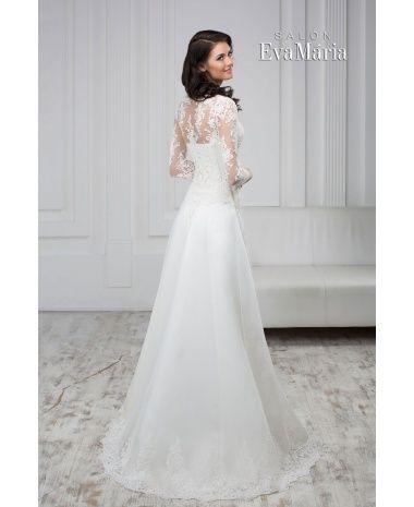 aee0bea6d7f9 SHEINA - luxusné dlhé čipkované svadobné šaty s dlhým rukávom ...
