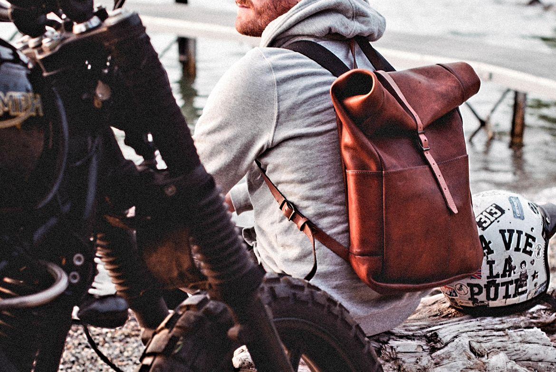 nouvelle arrivee 58dba d74f0 The John Woodbridge Rolltop Backpack in a road trip in the ...