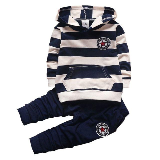daf8760f1e3 BibiCola Baby Boy Ropa Set Bebe Infantil Deportes Set Sudaderas Niños +  Pantalones de Traje Conjunto Niño Niña A Rayas Chándal Niños ropa envíos  gratuitos ...