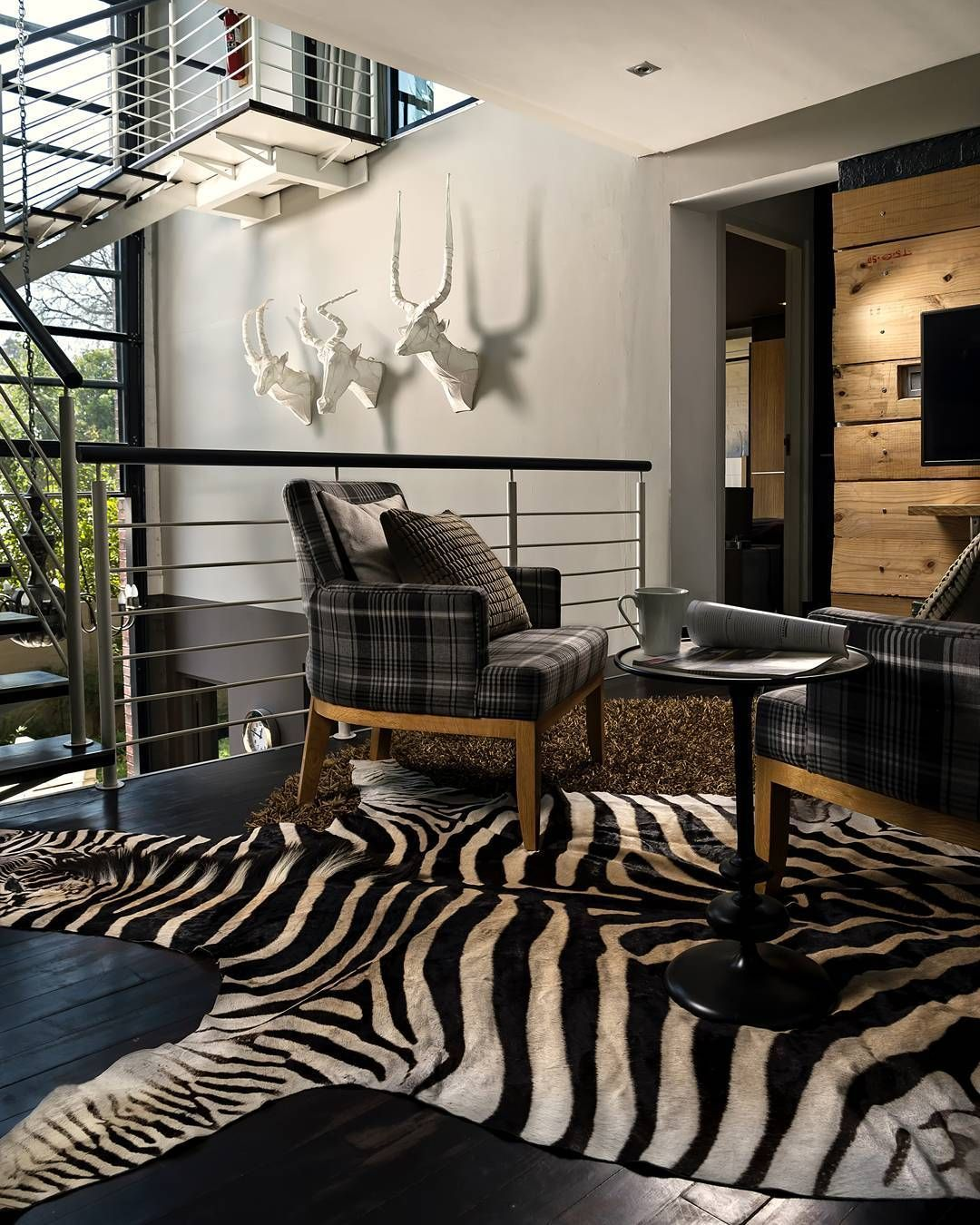 Animal Skin Living Room Zebra Zebra Decor African Home Decor Interior Living room ideas zebra