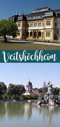 Unweit von Würzburg befindet sich das Schloss Veitshöchheim mit einem wunderschönen Park. Ideal auch für eine kleine Radtour geeignet.