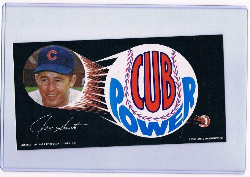 1969 Ron Santo Chicago Cubs Dunkin' Donuts Bumper Sticker