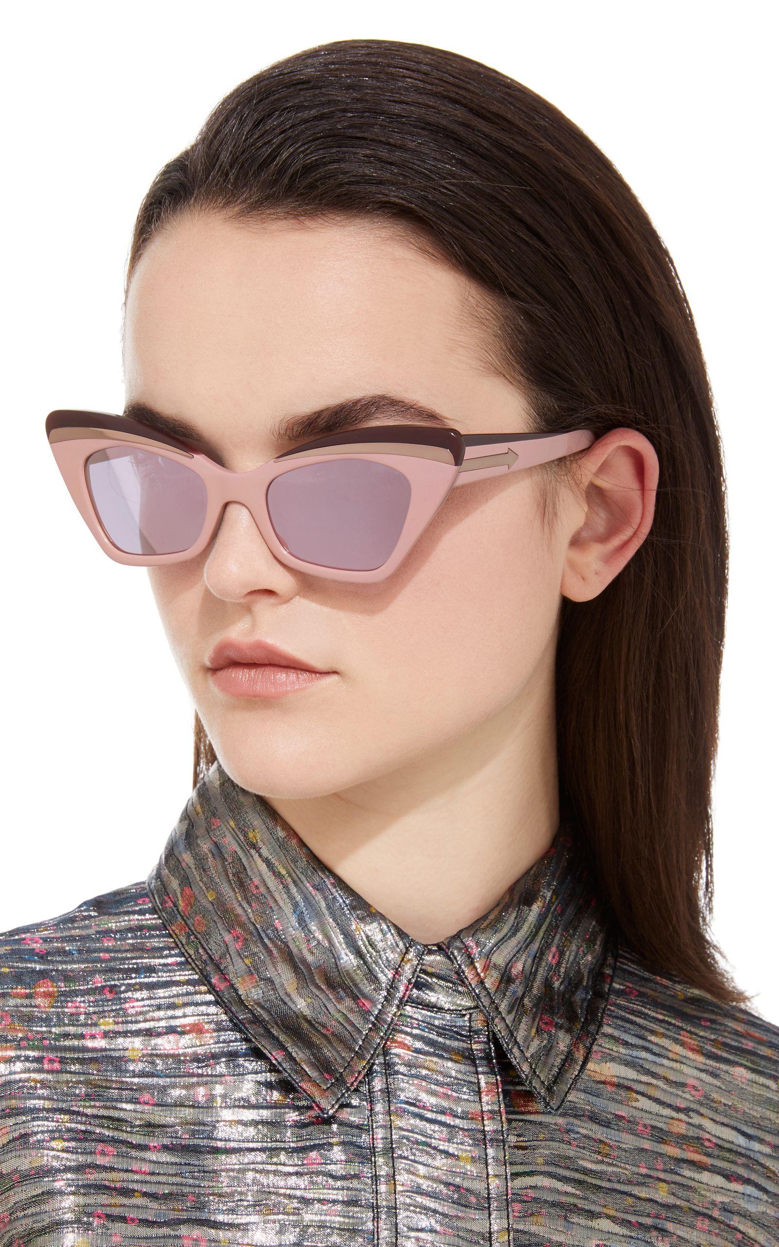 e71ada6cfcbb Babou Blush Cat-Eye Acetate and Metal Sunglasses by KAREN WALKER Now  Available on Moda Operandi