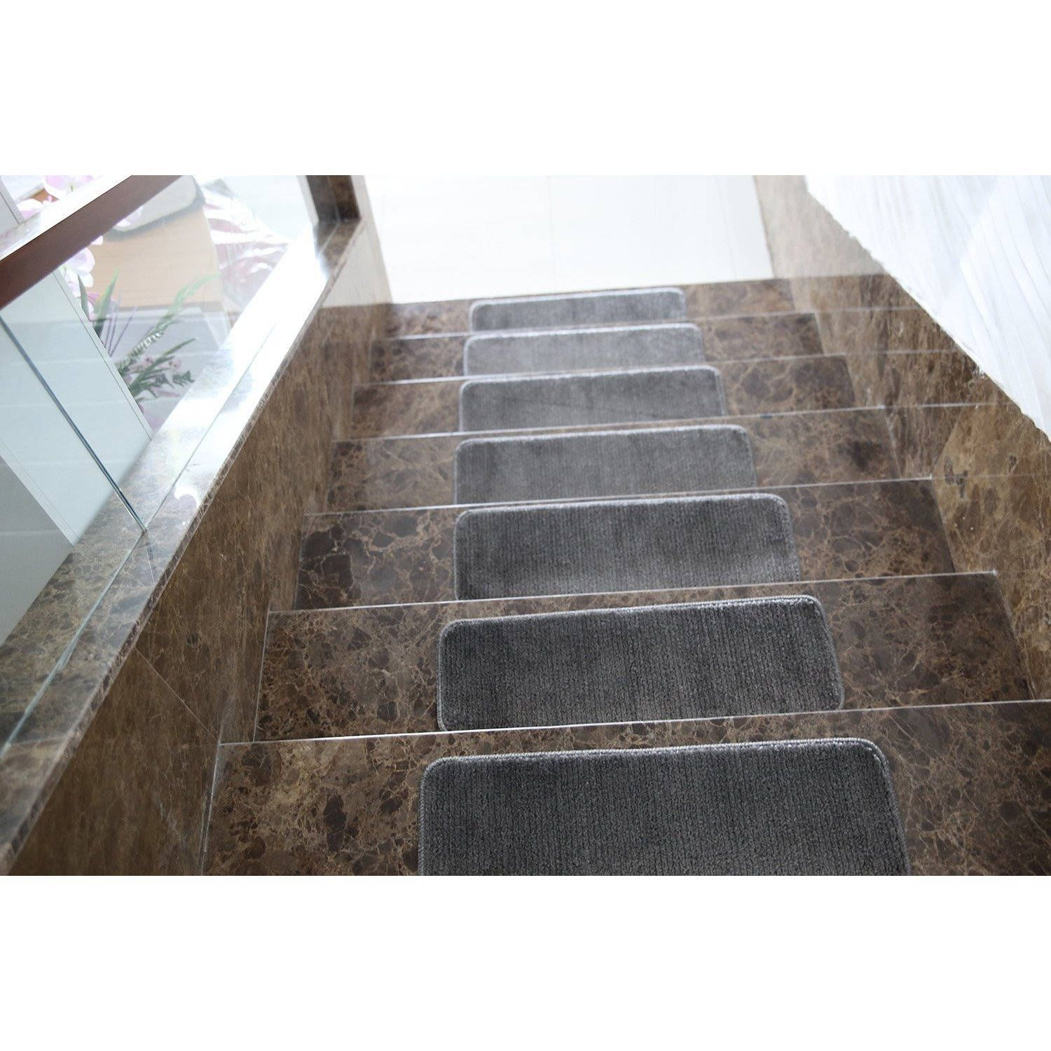 Best Ottomanson Softy Solid Color Non Slip Stair Treads Stair 400 x 300