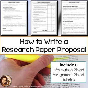 Research Paper Proposal Assignment Sheet And Grading Rubric Mla