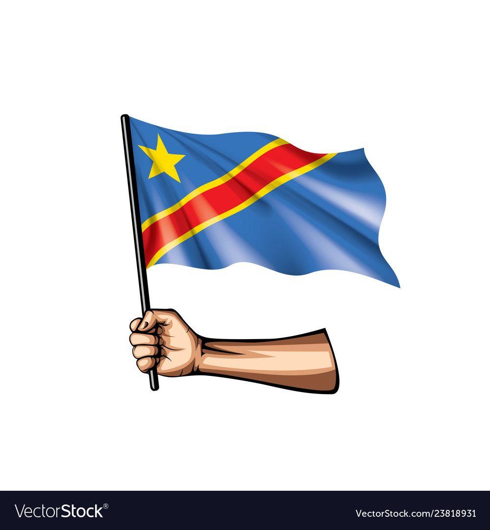 Democratic Republic Of The Congo Flag And Hand On Vector Image Sponsored Congo Republi Congo Flag Democratic Republic Of The Congo Republic Of The Congo