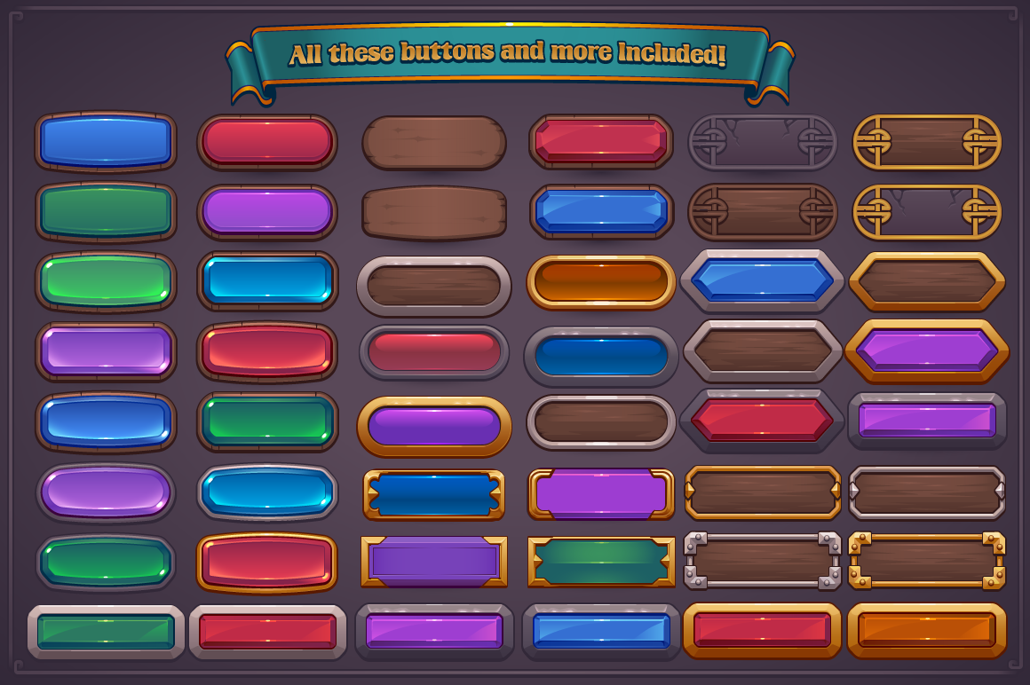 Fantasy Game Button Maker by Vectricity Designs on