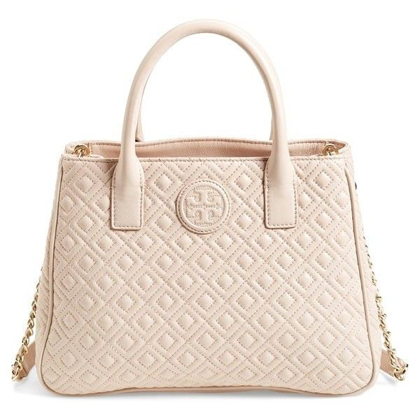 Tory Burch Marion Quilted Lambskin Tote 525 Liked On