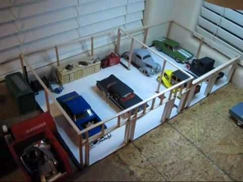 1 24 1 25 Scale Diorama Garage Design Diorama Garage