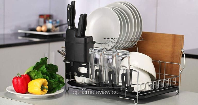 Best Dish Drying Rack Reviews In 2018 Kitchen Space Saving Organizer Dish Rack Drying Dish Racks Best Dishes